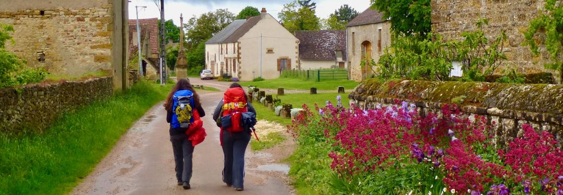 Pilgrims on the Vézelay Route